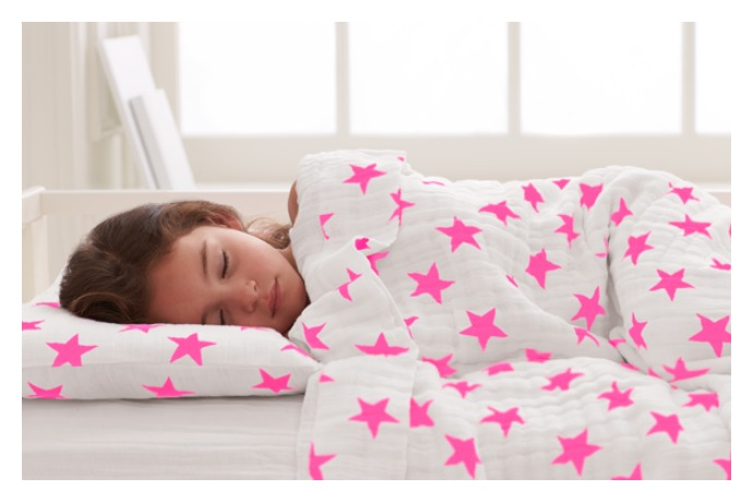 Could the new toddler bedding from Aden + Anais keep your kid in bed longer? Hey, we'll try anything.