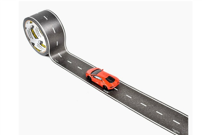 Play tape road rolls that let kids bring imaginative play on the road