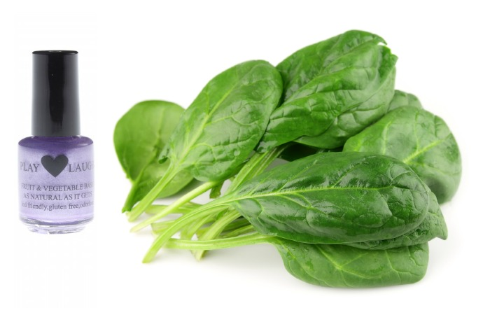 You know it's natural nail polish when there's spinach in it