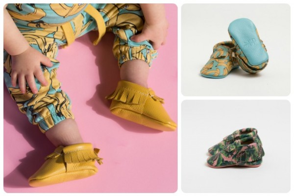 Freshly Picked patterned baby moccasins new for spring
