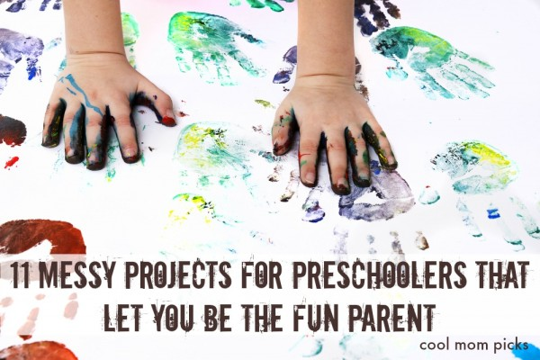 11 very fun, very messy projects and crafts for preschoolers