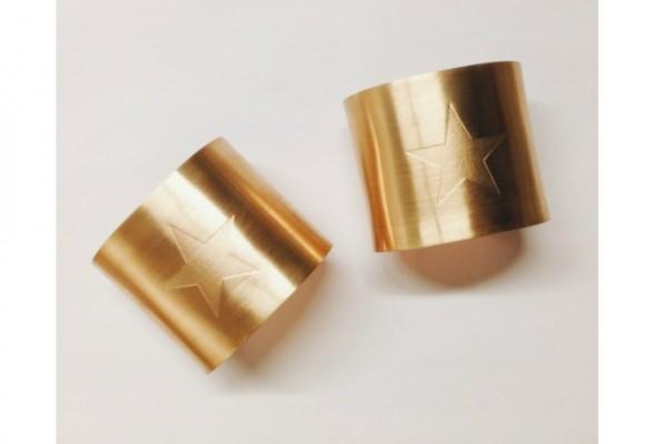 Wonder Woman pair of cuff bracelets