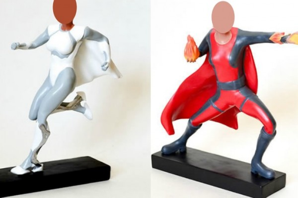 Custom superhero action figures designed with your own face. Best gift ever!