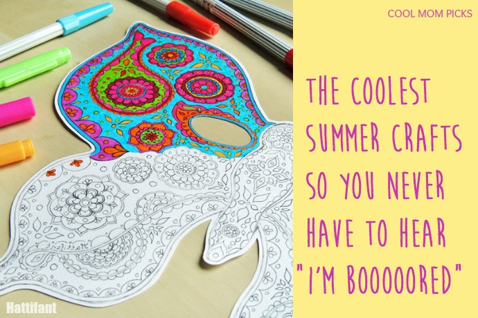 13 fun summery crafts for kids that can keep the boredom away.