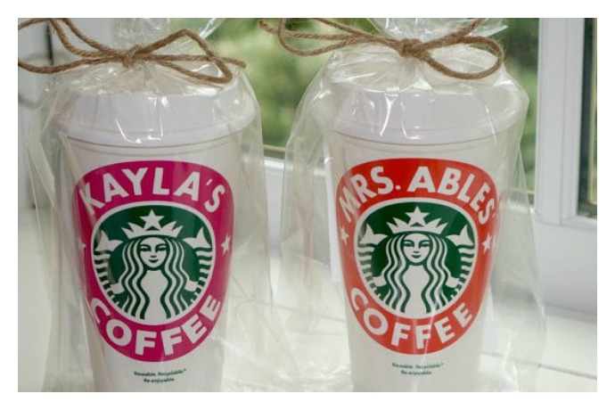 Personalized Starbucks coffee cups: Now the barista has no choice but to get your name right.