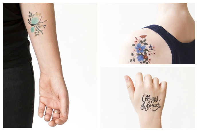 The loveliest temporary tattoos now from Tattly.