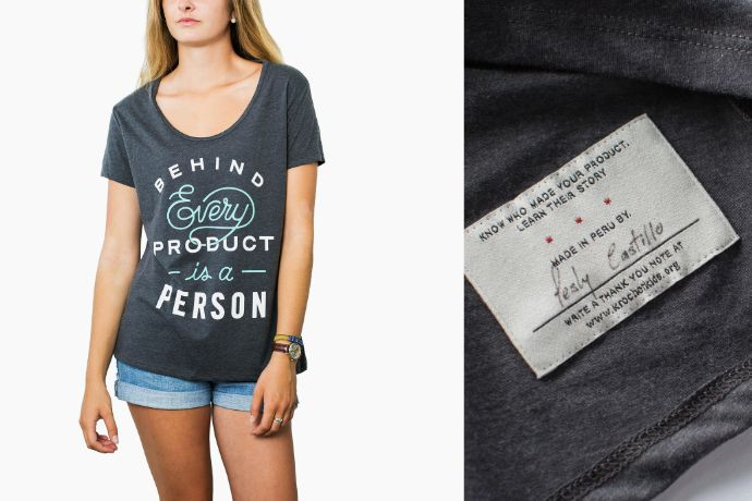Behind every product is a person: Excellent reminder from Krochet Kids.