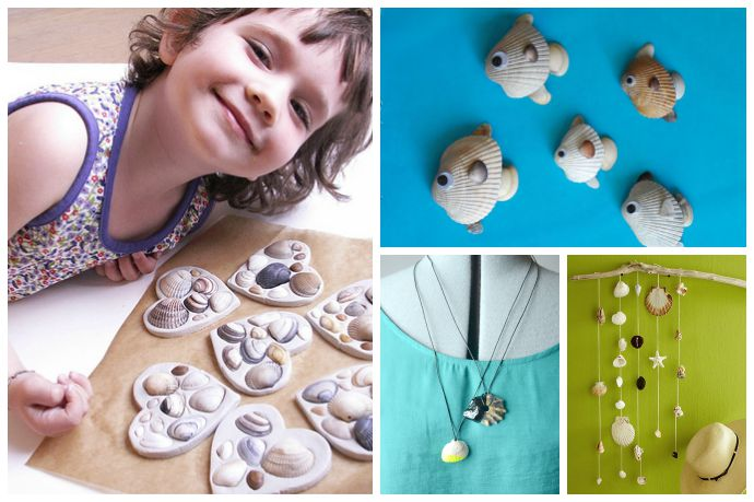 9 fun, easy crafts using shells to remind the kids of your summer vacation
