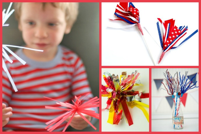 Enjoy safer sparklers with 6 fun Fourth of July crafts for kids