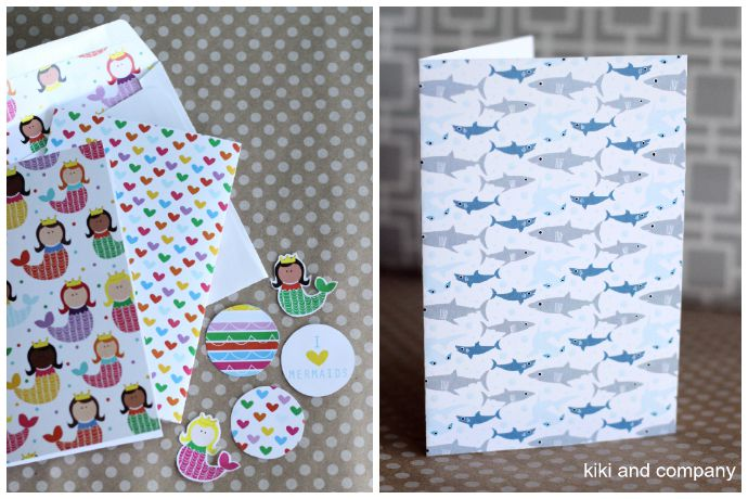 Free printable kids stationery. Since you're already spending enough on camp as it is.