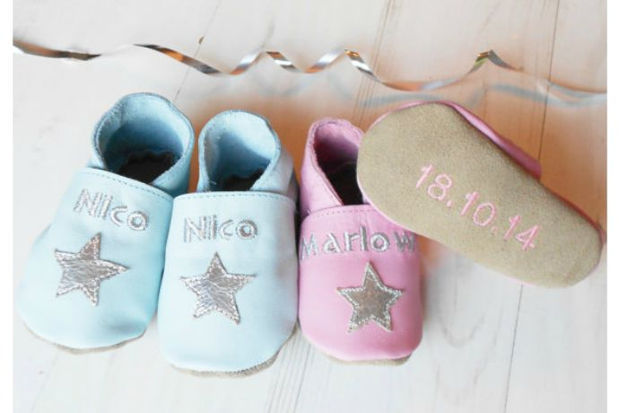 The cutest personalized baby shoes from top to bottom