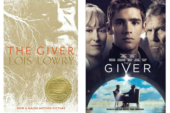 Great tween books made into movies: The Giver book and movie by Lois Lowry
