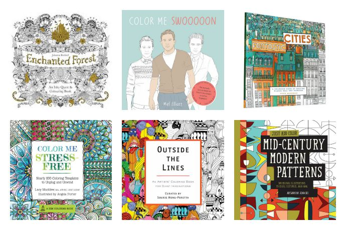We've got 21 of the coolest coloring books for adults. Pass those markers over, kids.
