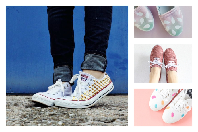 How to decorate plain sneakers: 9 DIY crazy cool sneaker makeovers for your white canvas kicks