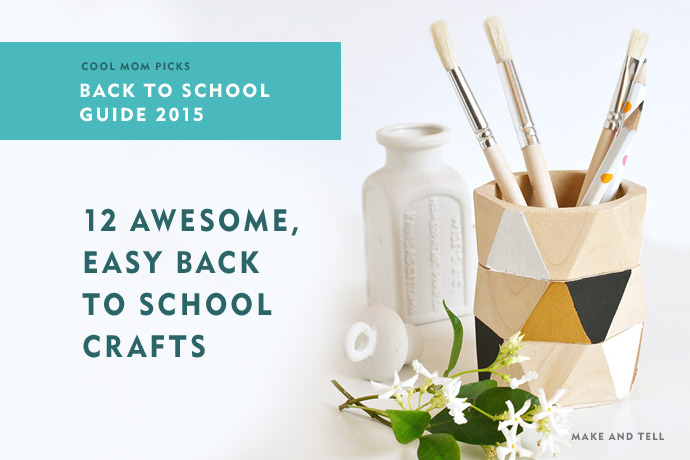 12 awesome DIY back to school crafts your kids can actually do: Back to school shopping guide 2015.