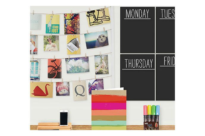 The chalkboard calendar that stays as flexible as you are. Or probably should be, if you have kids.