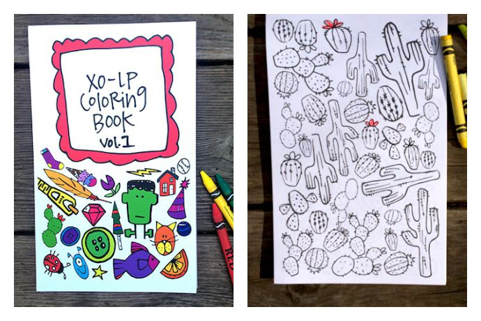 Break out the new crayons for this awesome coloring book from indie illustrator Laura Palmer