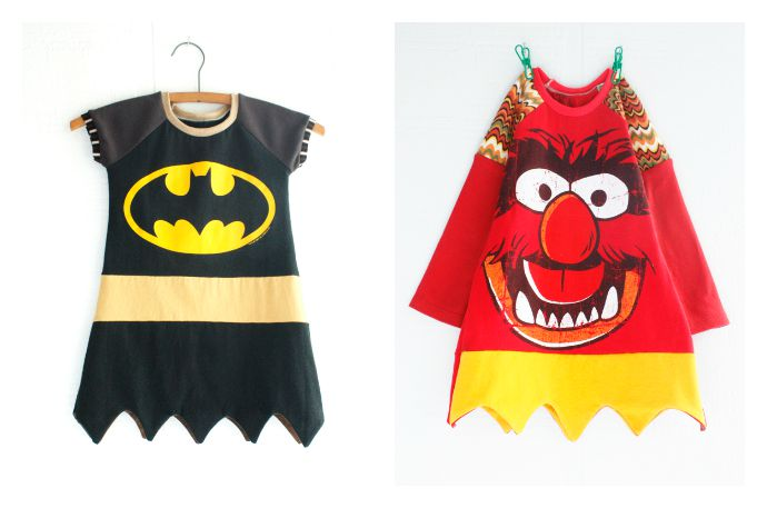 Cool handmade Halloween costumes for kids that can be worn long after Halloween. Like everyday if you're our kids.