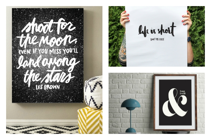 9 beautifully designed inspirational quote art prints for when you need a pep talk. From yourself.