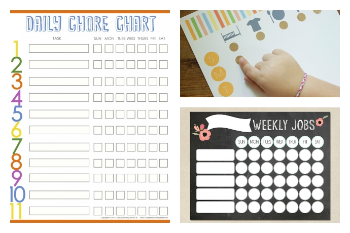 10 cool printable chore charts to motivate kids of all ages to clean up. Even your toddlers.