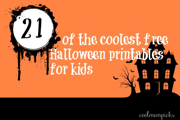 21 of the coolest free Halloween printables for kids. Because we're all for fun that costs zero dollars.