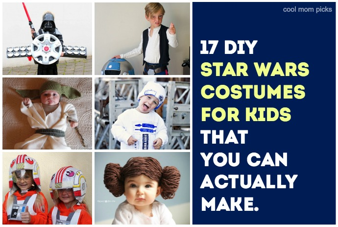 17 cool DIY Star Wars costumes for kids that you can make, from Han and Leia, to baby Ewoks, to the droids you're looking for.