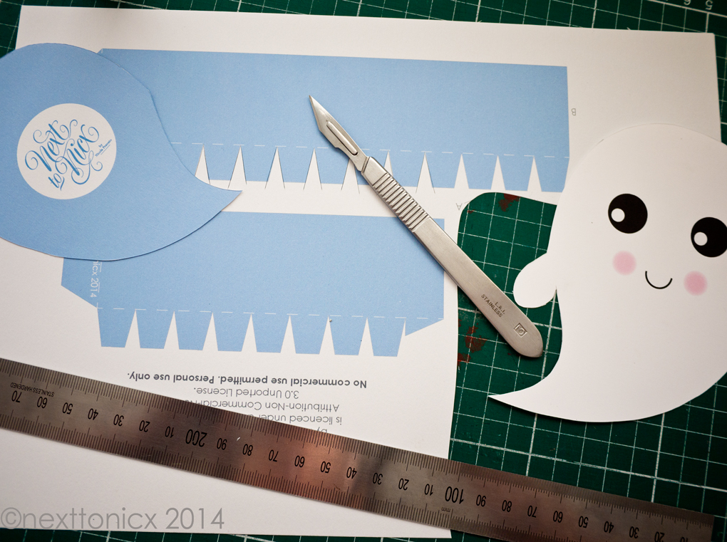 4 free kawaii Halloween printable craft projects make super cute happy girl!