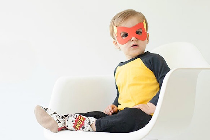 Meet the awesome new superhero Robeez: Able to leap all that baby gear all over your floor in a single bound.