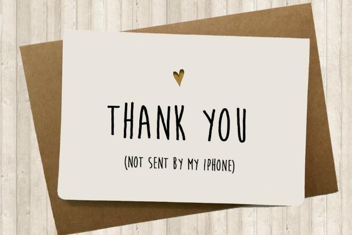 Are we still sending handwritten thank-you notes?