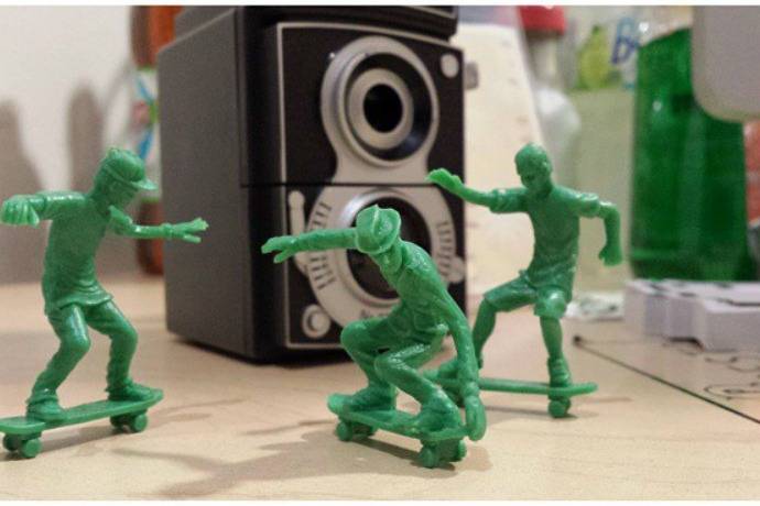 Toyboarders: Little green army men like, totally transformed, dude.