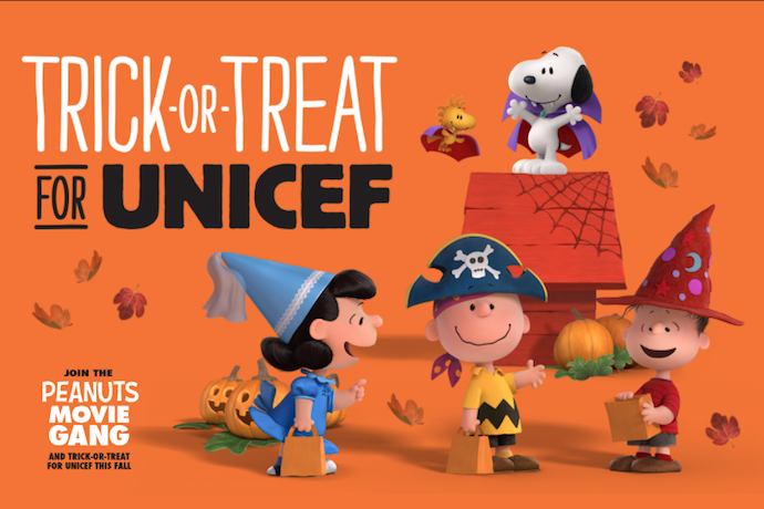 Don't forget to trick-or-treat for UNICEF! Here's how to do it – and to make it more fun with Peanuts themed boxes.