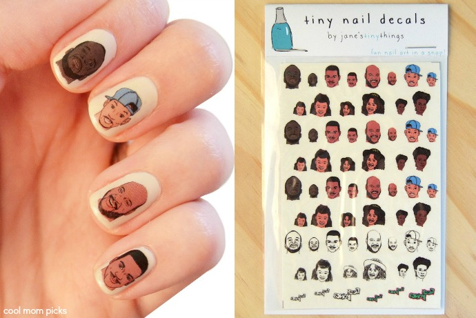 Fresh Prince nail decals? Parents just don't understand.