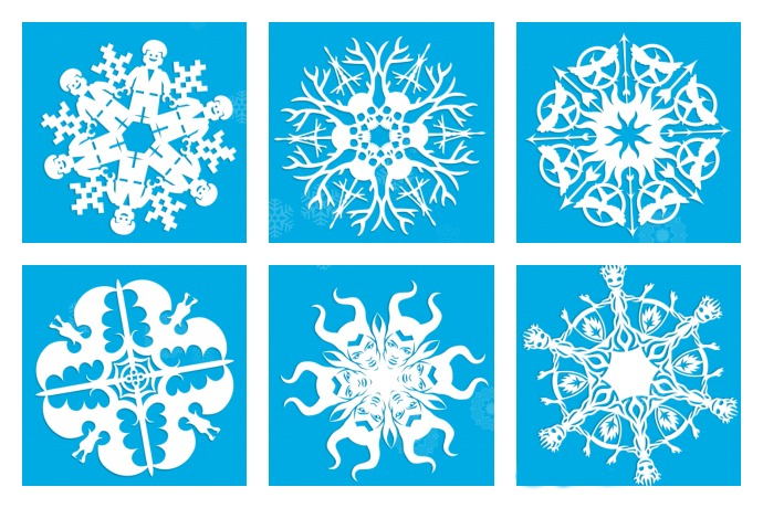 More than 20 seriously cool snowflake patterns to make with your kids, or just to blow their minds.