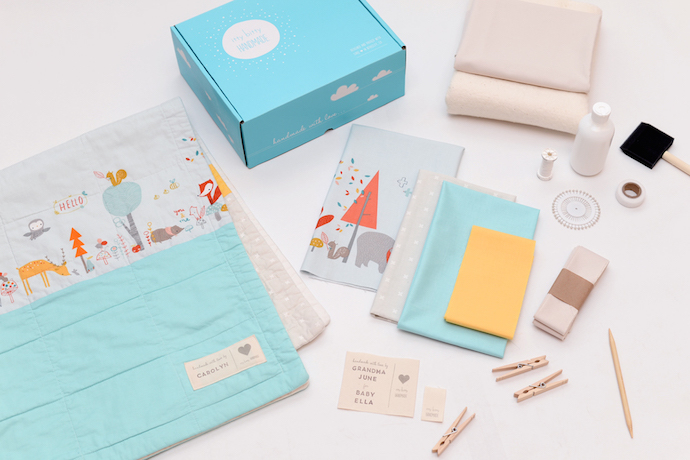 Modern DIY baby blanket kits for moms who love to get crafty