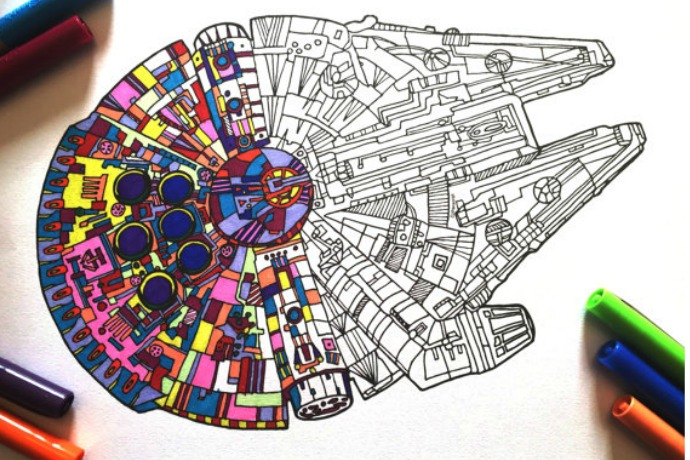 The Coolest Star Wars Force Awakens Coloring Pages Found Them