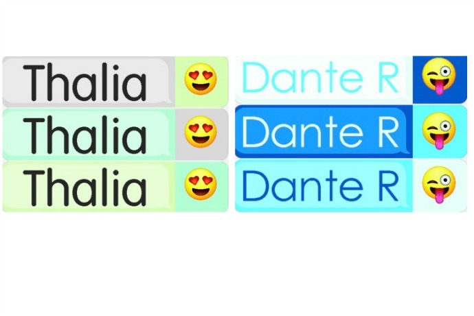 We heart the new personalized emoji labels from Mabel's Labels