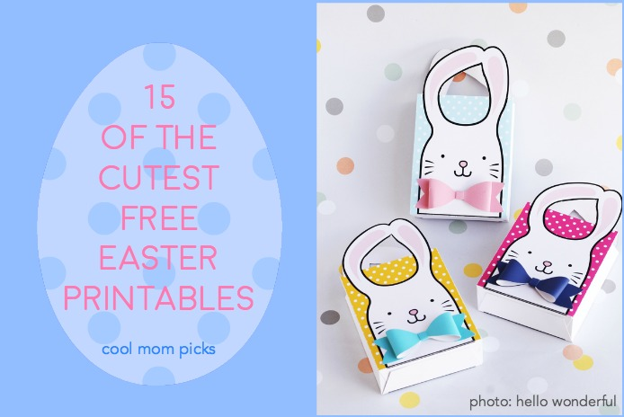 15 of the cutest and free-est Easter printables for our kids