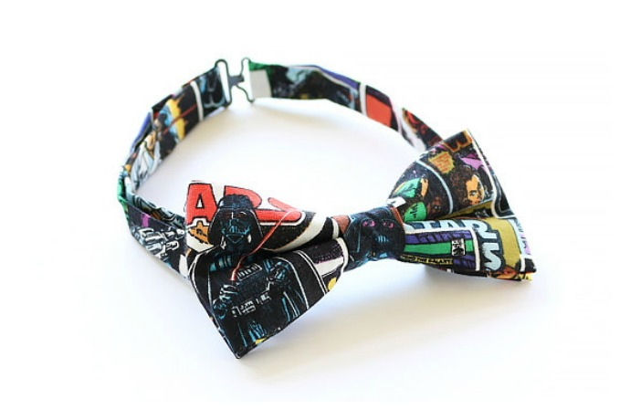 The coolest pop culture bow ties for boys. No preppy plaids.