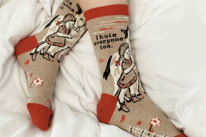 The NSFW socks from Blue-Q