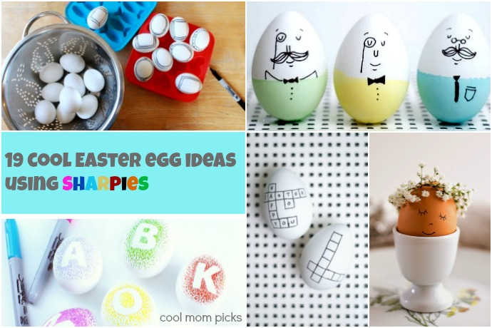 Sharpie Easter eggs! 19 of the coolest no-mess ideas that make Easter egg decorating easy.