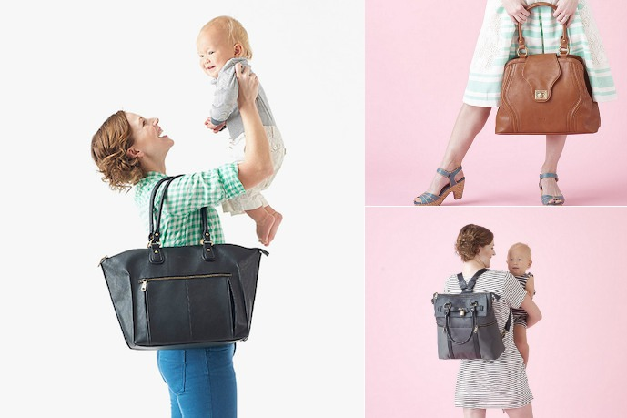 A hot new line of diaper bags from a designer who's not so new to them at all.