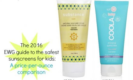 The EWG 2016 safest sunscreens for kids: which are most affordable?