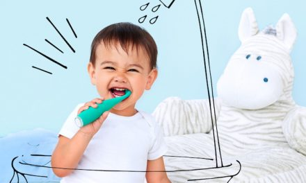 The toothbrush to clean toddler teeth, without the WWE-style neck hold