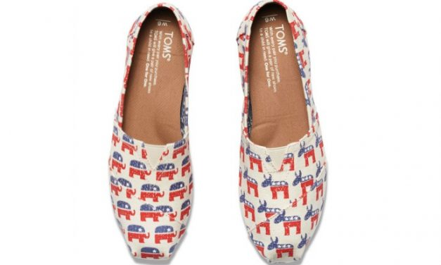 The new TOMS shoes let you dip a toe into the political process