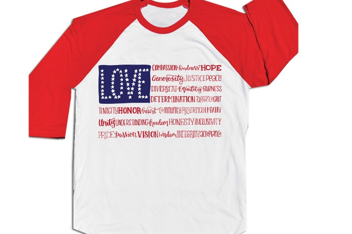 A patriotic T-shirt that reminds us of what makes America wonderful.