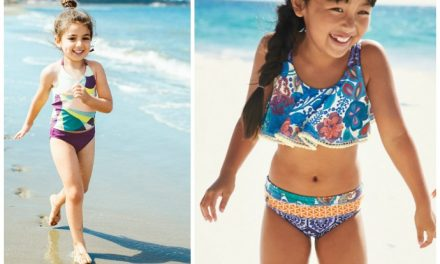 The best modest two-piece swimsuits for sporty, modern, or girly girls. Because, well, they're still kids.
