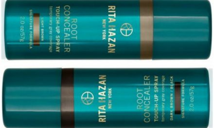 Spray your gray away with the Rita Hazan root concealer