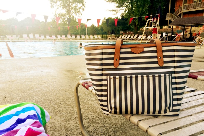 Waterproof diaper bags that just happen to make the perfect pool totes