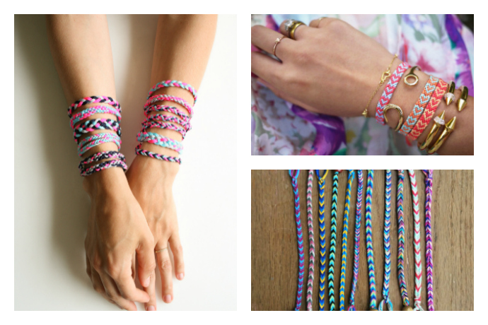 4 fun DIY friendship bracelet patterns for a rainy (or just unbearably hot) day.