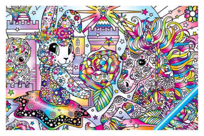 Lisa Frank adult coloring books! Because who can't use more rainbows?
